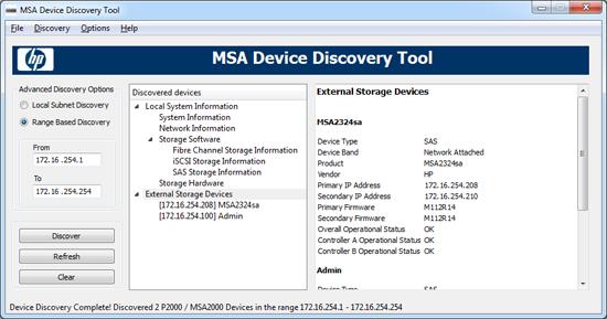 MSA Discovery Tool