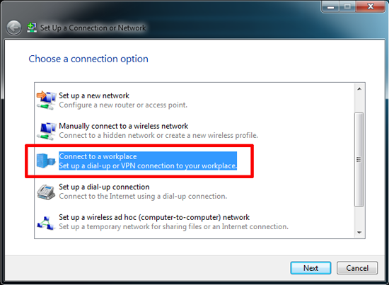 Windows VPN Setup