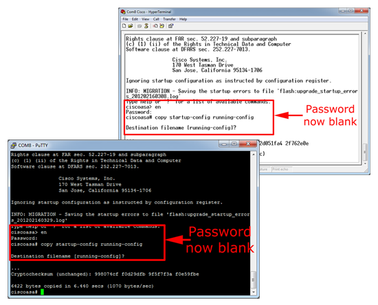 Cisco Blank Password