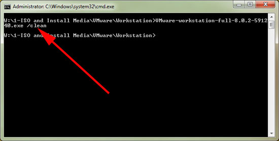 manually remove vmware workstation