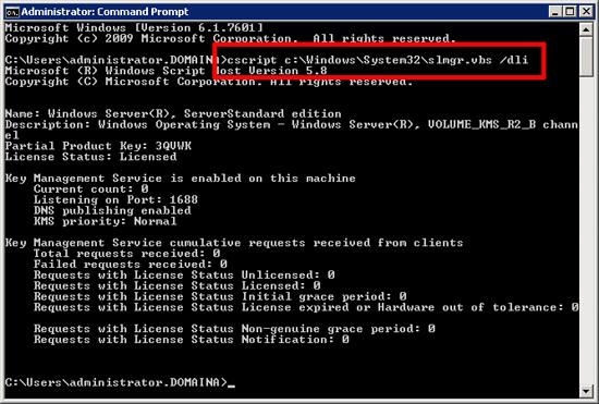 Check KMS Server Status
