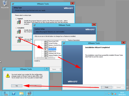 Windows 8 VMware Tools