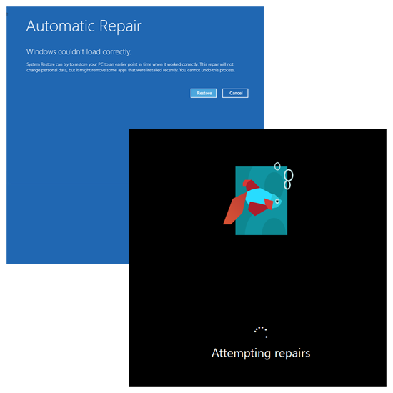 Windows 8 Automatic Repair Restore