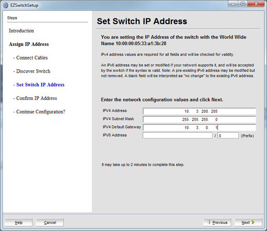Brocade IP address
