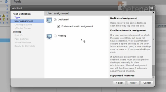 VMware View Dedicated Assignment