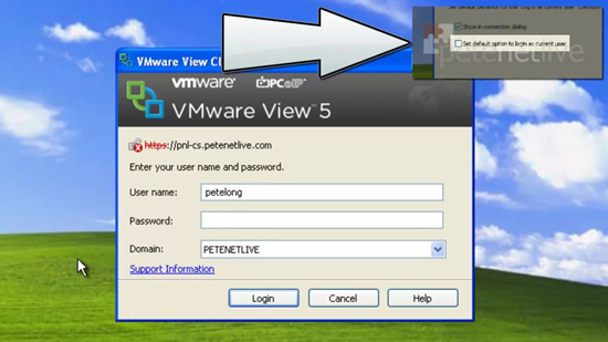 VMware View Client Login