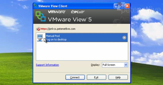 VMware View Client Select Pool