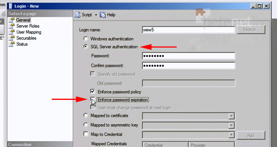 VMware View SQL Password Expiration