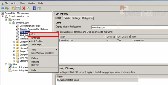 Forefront Group Policy