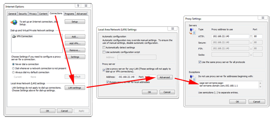 Sage Add Proxy Exception
