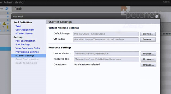 View vCenter Settings