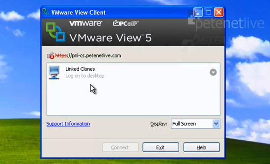 VMware View Client Linked Clone Pool