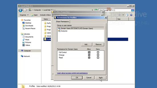 Profile Folder Permissions