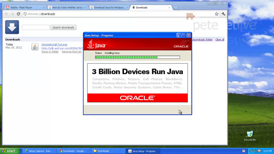 Install Google Chrome and Java