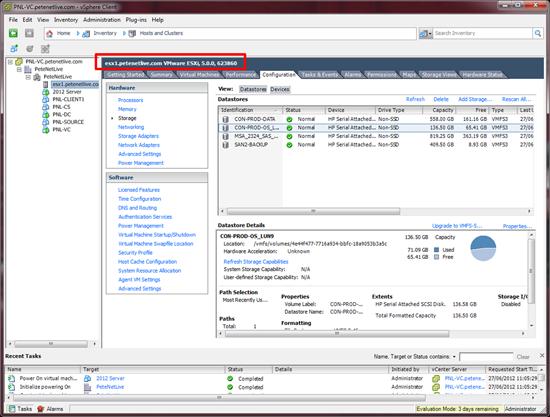 ESX Server 2012 version