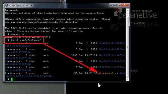 ESX List Datastores