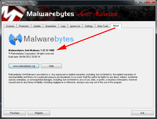 Malwarebytes Version