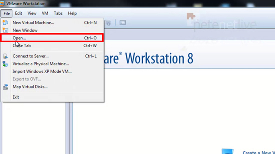 VMware Workstation Open a VM