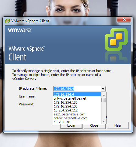 VI Client Remove IP addresses