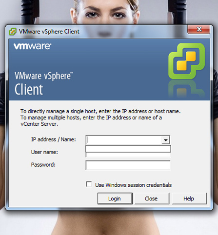 vSphere client remove ip and names