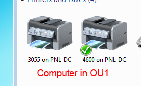 Printers in OU1