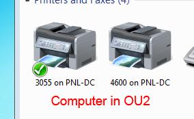 Printers in OU2