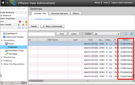 VMware View XP Customizing