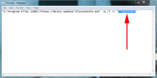 iTunes Library Updater Batch File