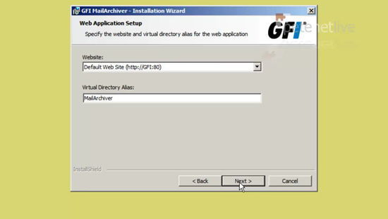 GFI MailArchiver Management URL