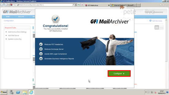 Configure GFI MailArchiver