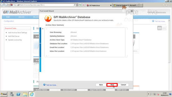 GFI Database settings