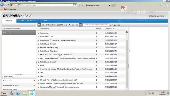 GFI MailArchiver View Archive