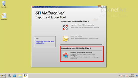 GFI MailArchiver Export from Databse