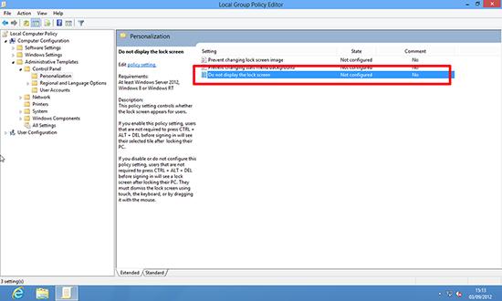 Windows 8 Local Policy Editor