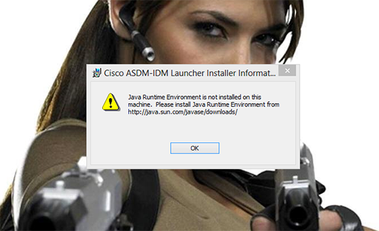 ASDM Java is not Installed