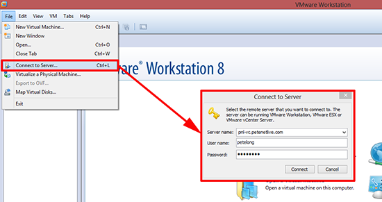 Connect Workstation to ESX