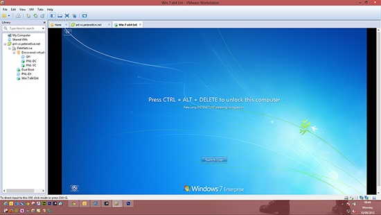 Windows 8 VMware Console