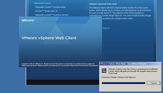 vCenter Web Client