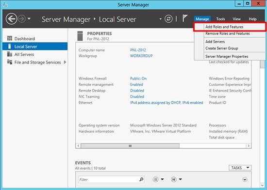 Server 2012 Add Role