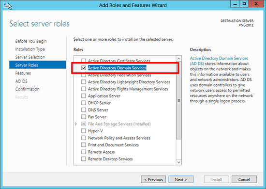 2012 Active Directory Domain Services