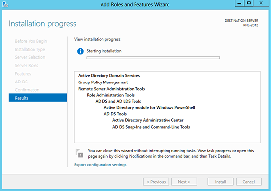 Server2012 Install Active Directory