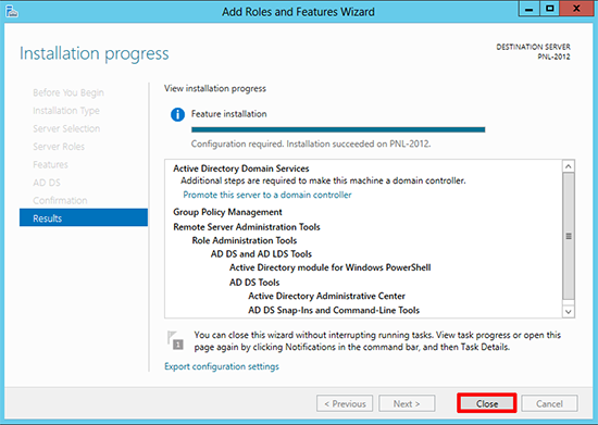 Windows Server 2012 Add domain controller