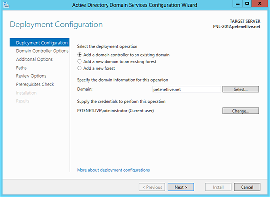 Add a 2012 Domain Controller