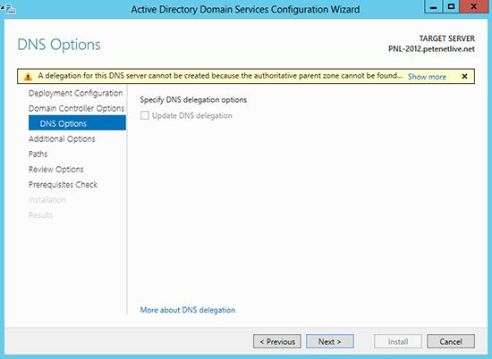 2012 DNS Options