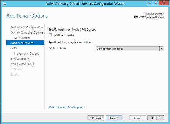 Domain Controller Install From Media