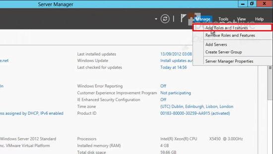 2012 Add Server Role
