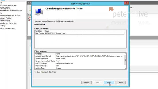 Completing Network Policy