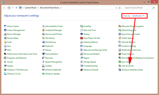 Control Panel User Accounts