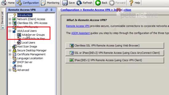 ASDM Configuration AAA
