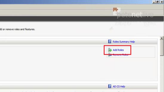 2008 Add Server Role